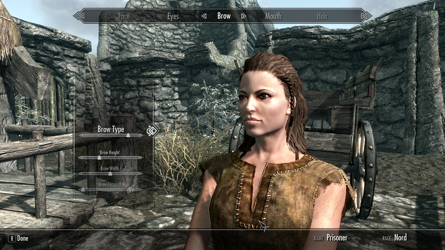 how to create a good looking slider character in skyrim