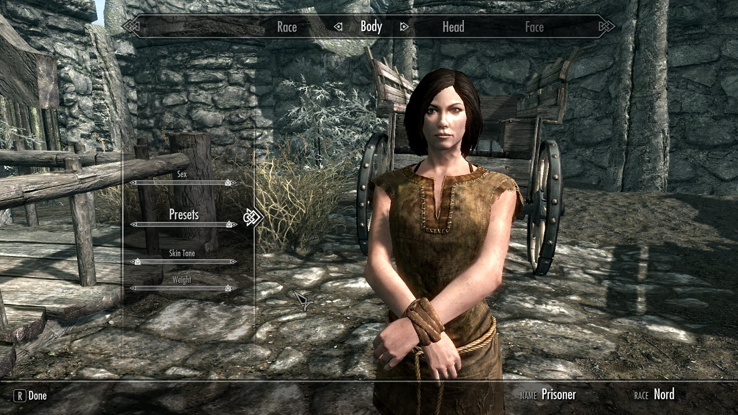 skyrim how to make a character look like asin