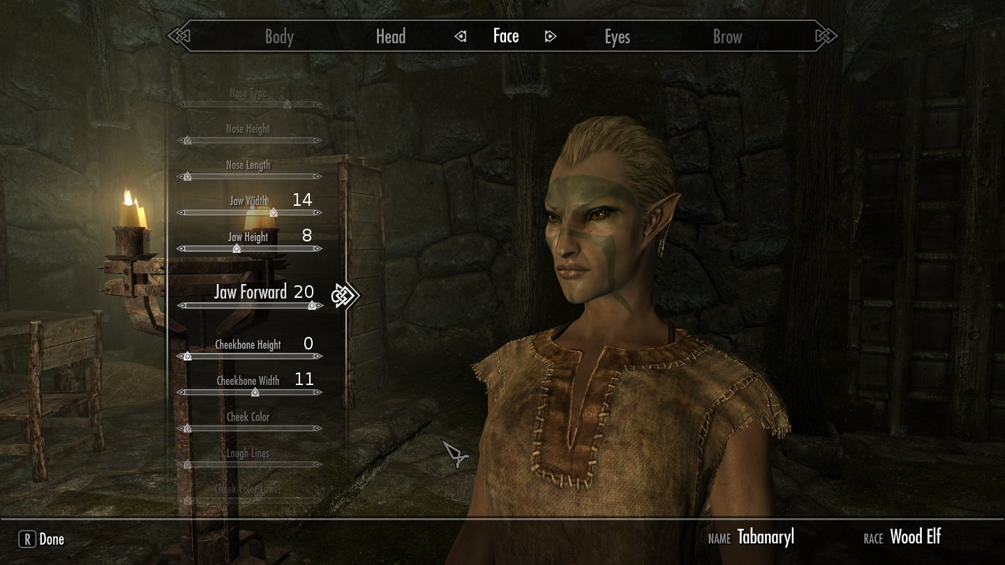 Skyrim female character mods anime pic