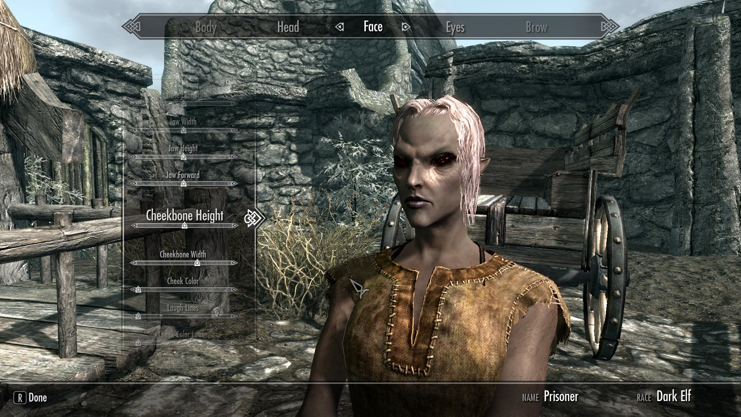 Weathered celebrity faces for skyrim
