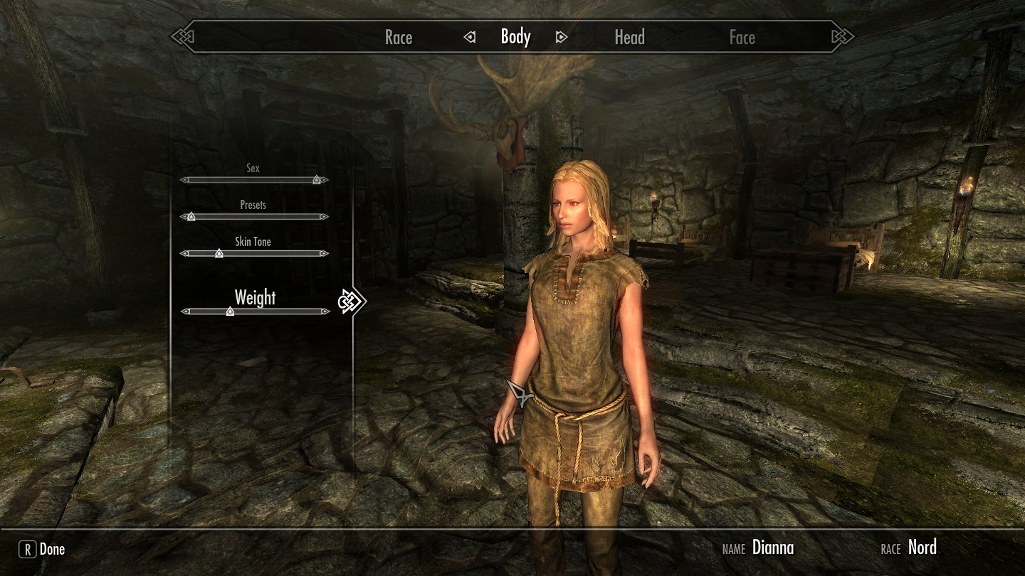 Celebrity Sliders for Skyrim